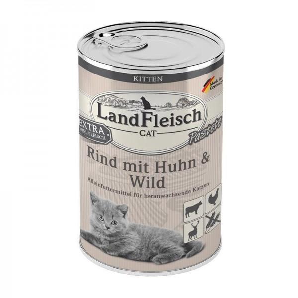 Landfleisch Cat Kitten Pastete Rind, Huhn & Wild 400g