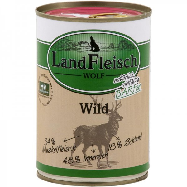 LandFleisch Wolf Sensibel 100% Fleisch vom Wild 400g