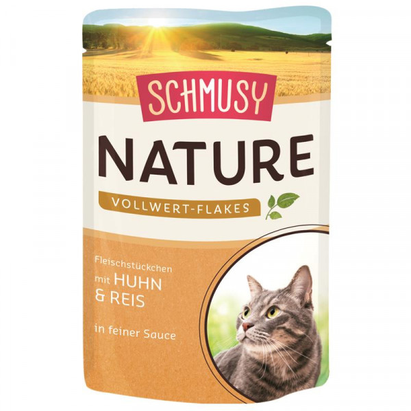 Schmusy Nature Vollwert-Flakes FB Huhn & Reis 100g