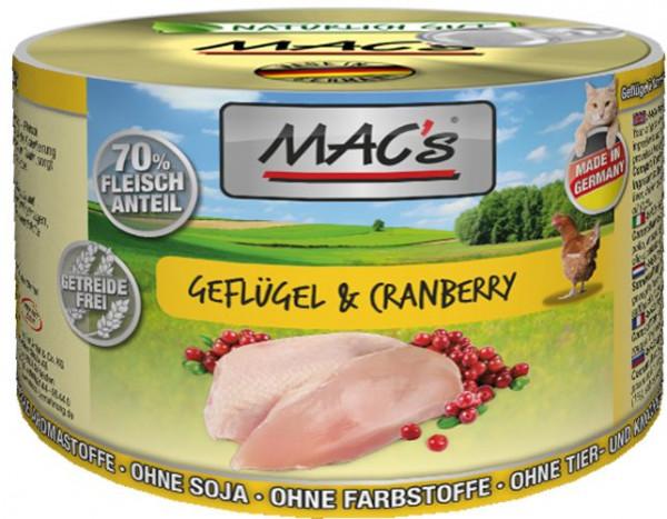 MACs Cat Geflügel & Cranberry 200g