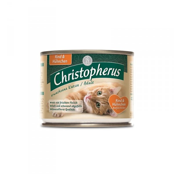 Christopherus Cat Dose Adult Rind & Hühnchen 200g