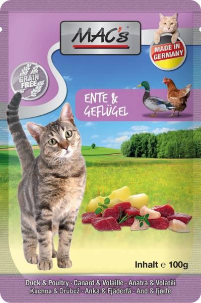 MACs Cat Pouch Pack Ente & Apfel 100g