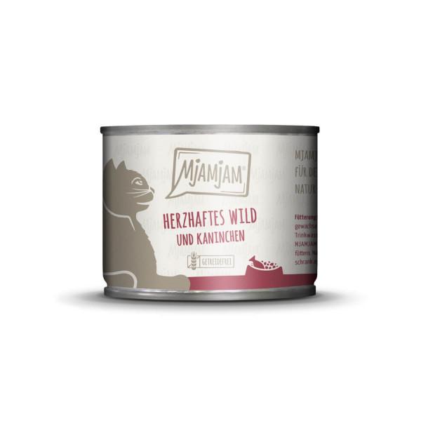 MjAMjAM - herzhaftes Wild & Kaninchen an fruchtigen Heidelbeeren 200 g