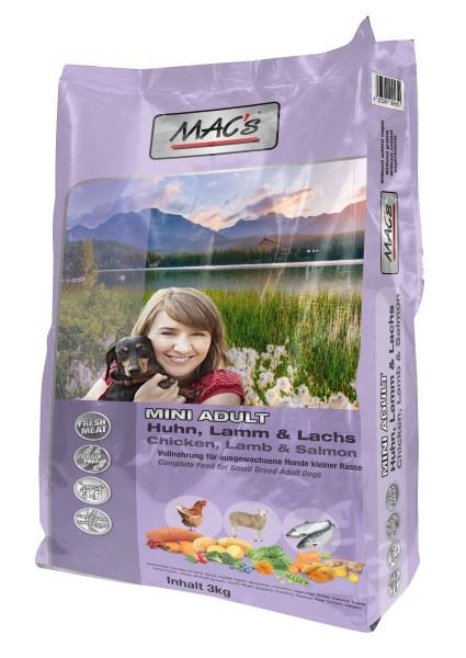 MACs Dog Adult Mini Huhn, Lamm, Lachs 3 kg